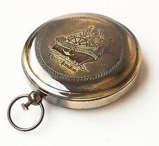 Nautical Ross London Push Button Brass Pocket Compass Antique Navigation Gps