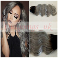Ombre hair extensions natural black to silver grey weave weft diy diy clip in remy ombre hair extensions natural black to silver grey weave weft pmusecretfo Choice Image