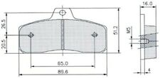 """Birel Early-Type /""""Thin/"""" Kart Rear Brake Pads PAIR"""