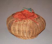 Old Antique Vtg 19th C 1880s Ladies Woven Basket Purse Handbag Very Nice
