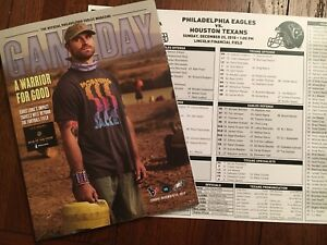 PHILADELPHIA EAGLES Gameday + Media Card 12.23.18 Vs Houston Texans Free Ship