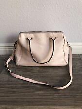 Kate Spade Womens Pink Pebble Leather Hand Bag & Cross Body Bag