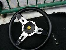 Vintage Classic  Leather Moutney GT Club Team Lotus Steering Wheel