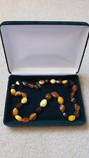 Colour Incl. Butterscotch, 40g Amber/Bakelite necklace - Interesting Multi