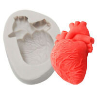 1PC Halloween Heart Mold Silicone Mold 3d Soap Molds Cake Mould Cake TRKUS