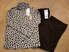 Nwt Gymboree Girls Pant Outfit Size 8 Leopard turtleneck/black pants