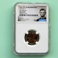 "2019-W First ""W"" Uncirculated Lincoln Cent, First Releases NGC MS 69 RD"