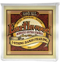 Ernie Ball 2061 - Jeu de 5 cordes Earthwood Banjo Frailing à boucle