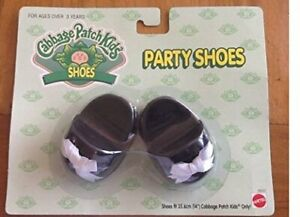 Cabbage Patch Kids Doll Shoes - CPK Black Party Shoes  - BRAND NEW