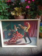 More details for vintage gypsy tretchikoff era mid century print gilroy flamenco