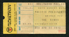 1973 The Kinks Rory Gallagher REO concert ticket stub Hollywood Palladium CA