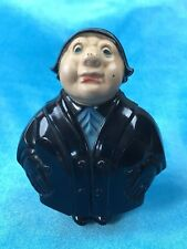 Antique Celluloid Child's Novelty Toy Chubby Man in Black Figural Rattle RARE