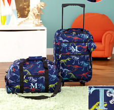 Luggage for Kids Boys Set Small Rolling Suitcase Duffel Bag Dinosaur Letter T