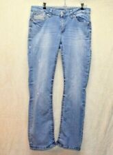 Seven7 Slim Boot Embroidered Pocket Stretch Jeans Women 14 Distressed  CLEAN  #M