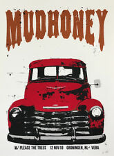 MUDHONEY Groningen 2018 silkscreened poster by Francisco Ramirez