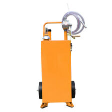 30 Gallon Manual Gas Caddy Fuel Diesel Transfer Tank Container With Rotary Pumps