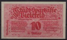 [20231] - GOLD-NOTGELD BIELEFELD, Stadt-Sparkasse, 10 Gold-Pfennig, 08.11.1923,