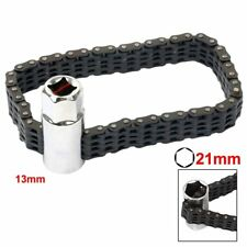 Car Truck Oil Filter Wrench Chain Type Strap Clamp Socket Removal Install Tool