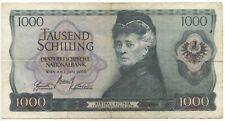 GB022 - Banknote Österreich 1000 Schilling 1966 Pick#147 Bertha von Suttner