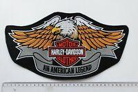 Harley Davidson Classic Orange Logo Sew-on Big large Patch  embroidery