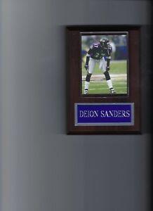 DEION SANDERS PLAQUE BALTIMORE RAVENS FOOTBALL NFL