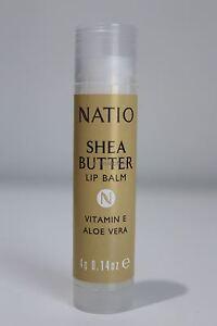 1x Natio Shea Butter Lip Balm - Vitamin E and Aloe Vera 4g (total: 8g)