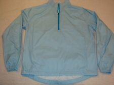 Peter Millar Golf Jacket Long Sleeve Medium Lightweight Aqua White Check