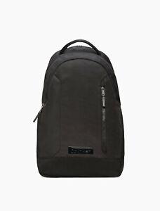 $139.50 Calvin Klein Casual Nylon Double Zip Backpack, Black