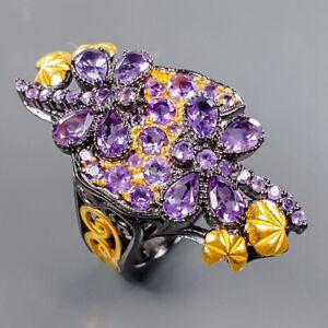 Handmade Fine Art Amethyst Ring Silver 925 Sterling  Size 6.5 /R178152