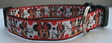 Minnie mouse dog collar or lead handmade grooming cute Micky red cartoon