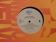 """MAXI 12"""" Promo CINDY LAUPER That's what i think SAMP 1826"""