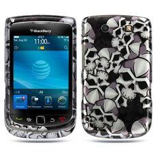 Black Skulls Hard Case Cover for BlackBerry Torch 9800