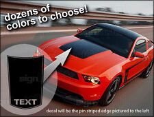 2010 2011 2012 2013 Ford Mustang Hood Buldge Stripe Decal GT Style #2