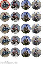 QUAD BIKE 20 X commestibili decorazioni per cupcake stampato su carta di riso parti Quadbike