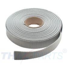 10m Gurtband 25mm Breit - ca. 1,6mm stark - Silbergrau  Taschengurt Taschenband