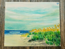 Original soft pastel art painting drawing landscape -  Beach