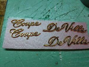 CADILLAC 1965 through 1970 coupe deville script 18-karat gold scripts