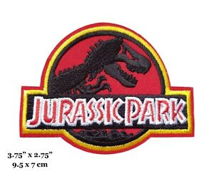 Jurassic Park Movie Logo Embroidered Iron On Patch