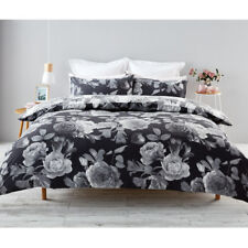 Reversible Floral Quilt Cover Set FLORAL Printed Design GORGEOUS King Doona