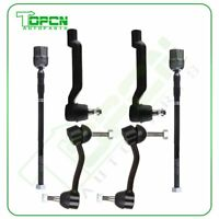 6x For 1993-1998 Lincoln Mark VIII Complete Front Sway Bar End Links Tie Rod End