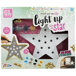 GL Style Decorate Your Own Light Up LED Star Set Kids Craft Boys Girls Set Gift