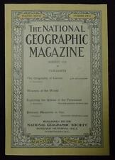 National Geographic August 1919 The Geography of Games, Weavers of the World