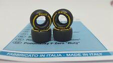 TAMEO PWT28 1/43 Scale 1 Set Tyres Soft Yellow Pirelli P Zero F1 Slick Tyres