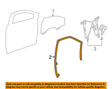 Cadillac GM OEM 10-16 SRX Front Door-Window Run Track Weatherstrip Left 20869144