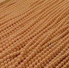 "72 long 60"" Strands hand dyed light pink vintage plastic pearl beads 4mm Korea"
