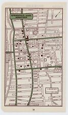 1951 ORIGINAL VINTAGE MAP OF SPRINGFIELD MASSACHUSETTS DOWNTOWN BUSINESS CENTER