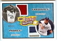 2008 Upper Deck Heroes light blue jersey patch dual 184 Gibson & Peavy 09/25