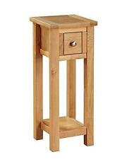 Metro Oak Telephone Table with 1 Drawer and Shelf - Light Oak End Side Table