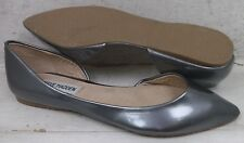 Steve Madden Womens Elusion Pewter Patent Slip On Flats Skimmers Shoes sz 6.5 M