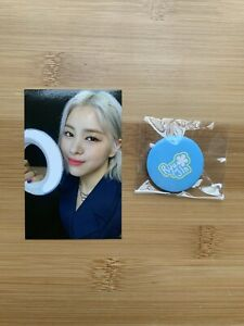 Kpop Itzy Official Ryujin Light Ring Pop Up Store Benefit Photocard & Pin Badge